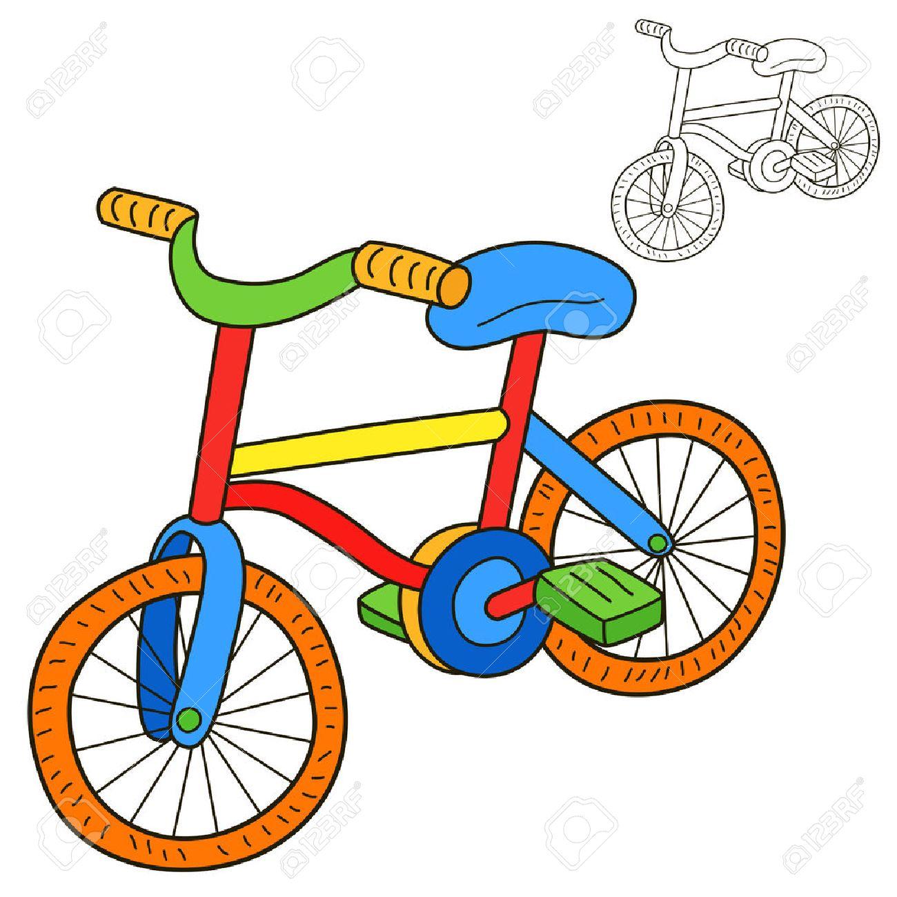 Bicicletas De La Página Del Libro Para Colorear Ilustraciones ...