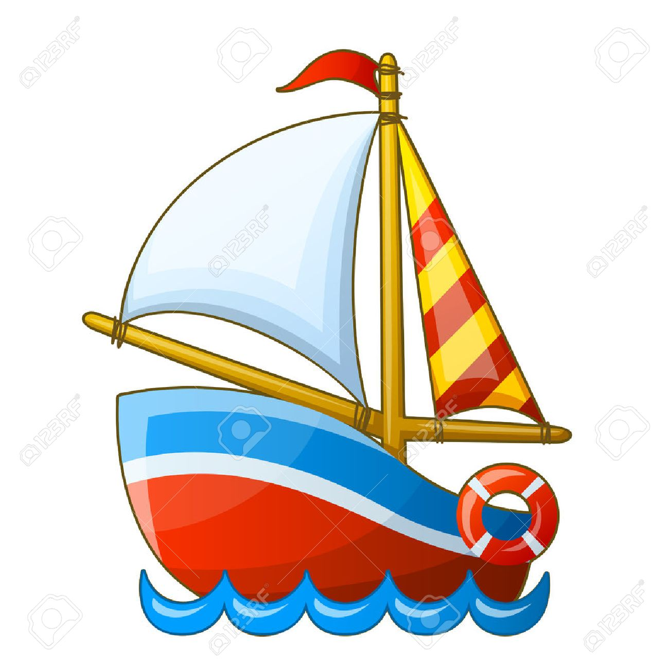 boat cartoon stock photos royalty free boat cartoon images rh 123rf com cartoon rowing boat pictures cartoon speed boat pictures