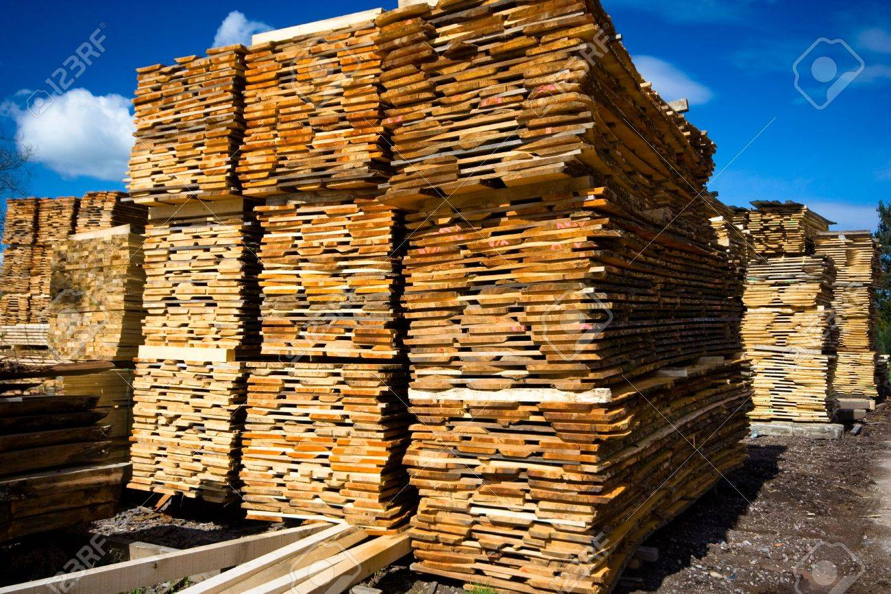 lumber collection on blue sky as background Stock Photo - 2880549