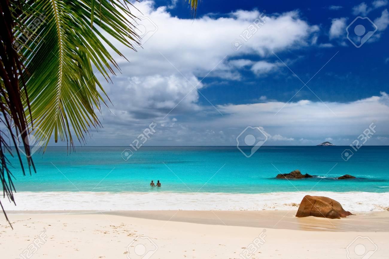 Anse Lanzio beach at Seychelles Stock Photo - 4526267