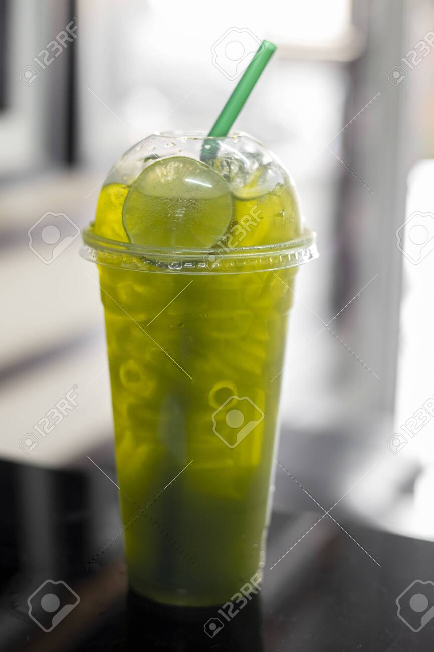 Iced Green Tea With Lemon And Straw Stock Photo Picture And Royalty Free Image Image 139078647