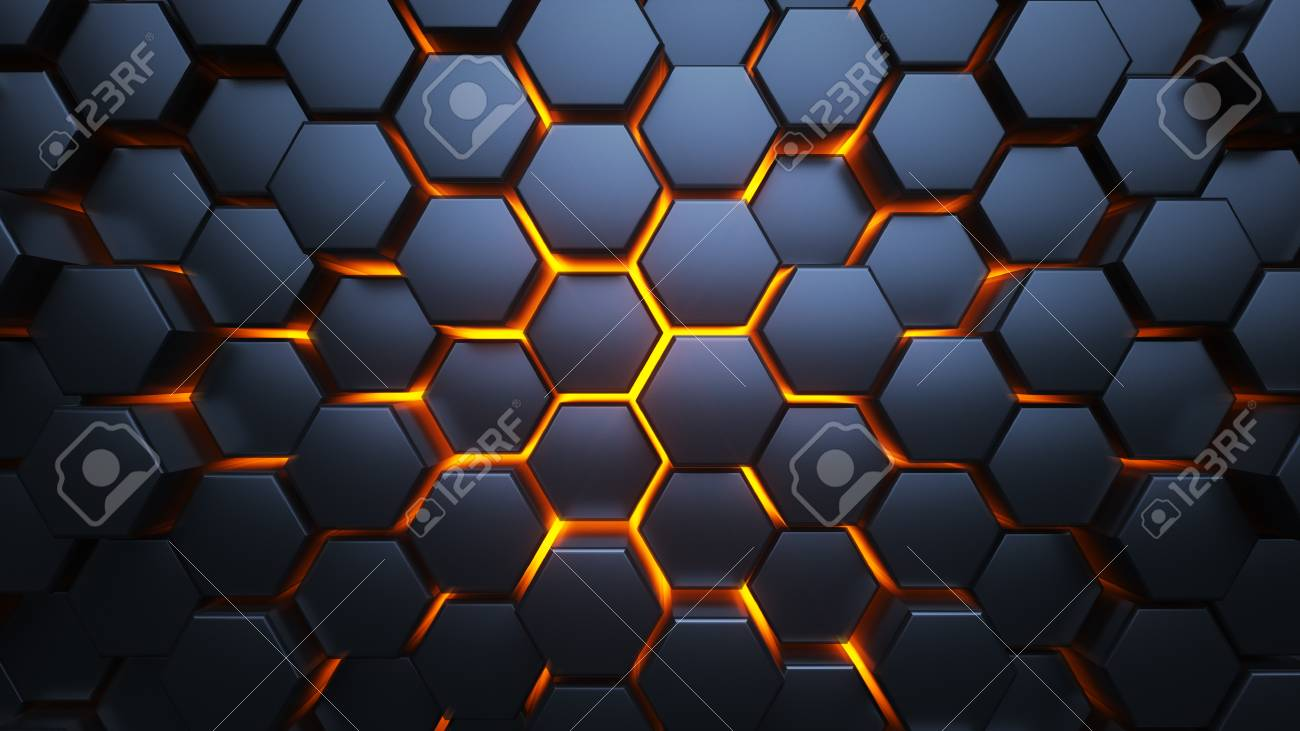 Blue And Orange Hexagons Modern Background Modern Wallpaper Stock Photo Picture And Royalty Free Image Image 116427175