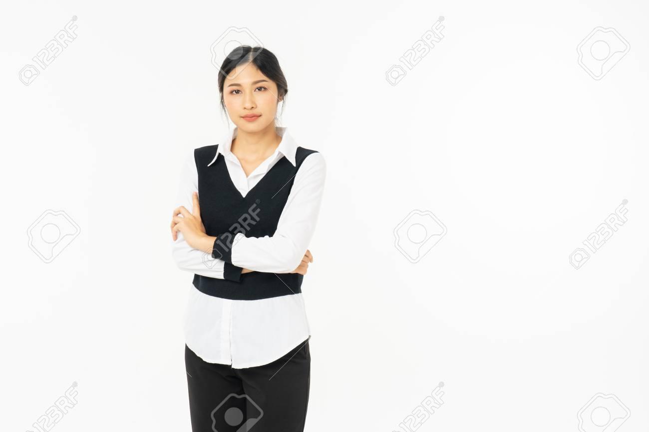 White collar asian woman