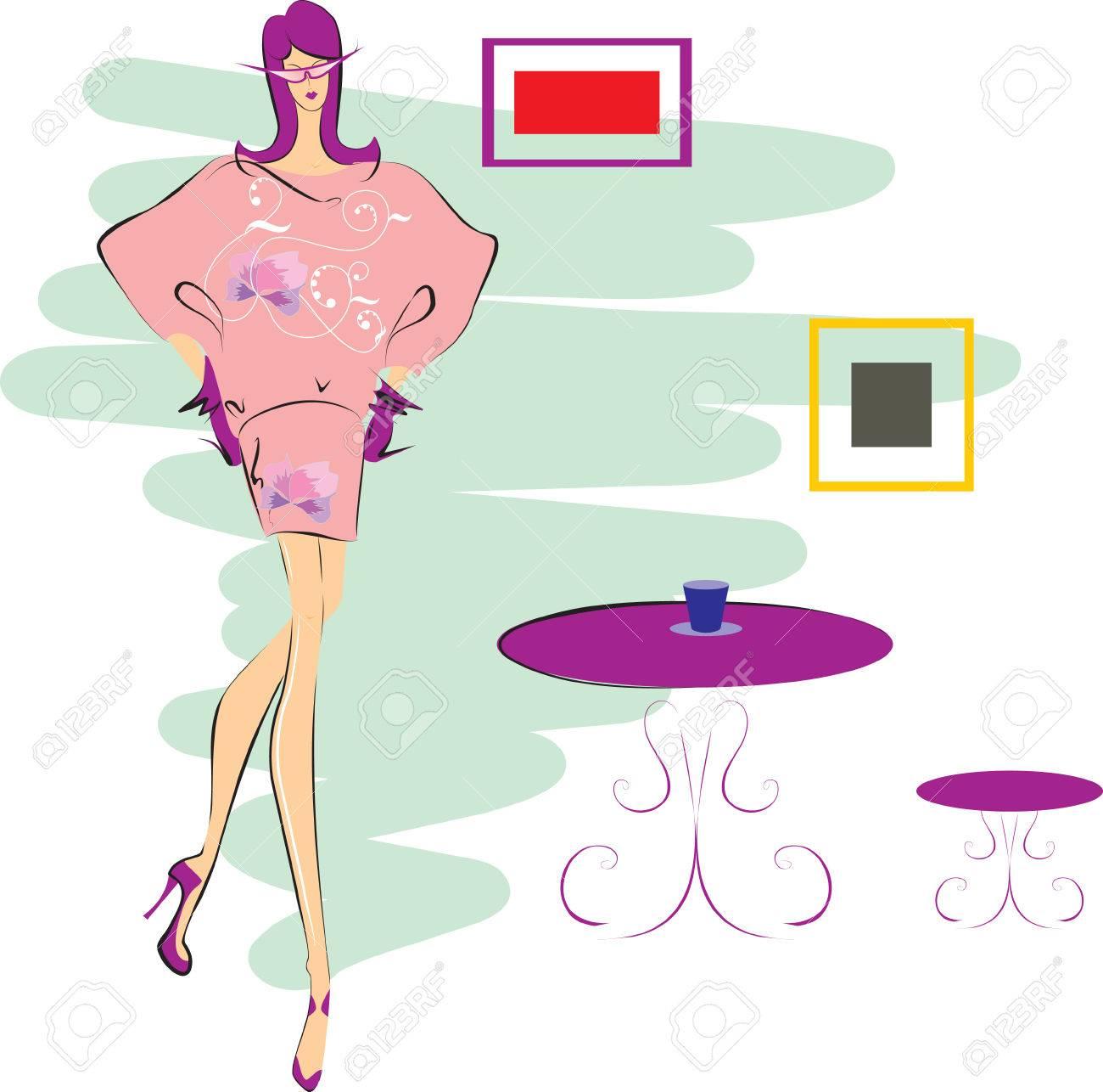 Glamour girl Stock Vector - 8771434