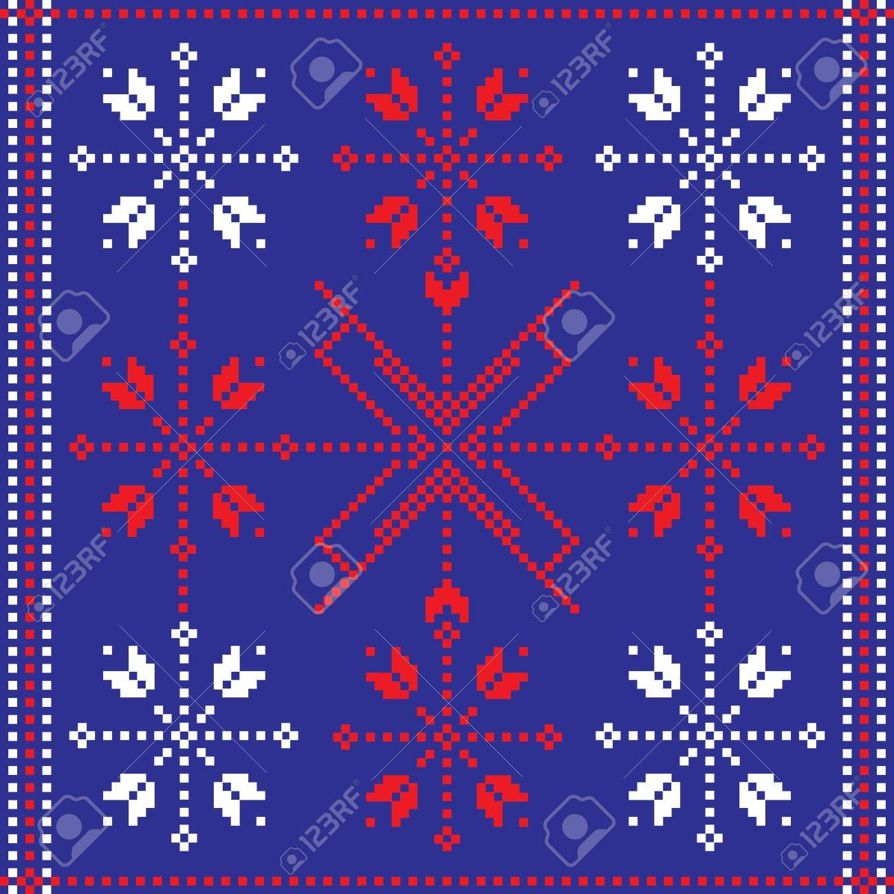 Folk pattern Stock Vector - 9672730