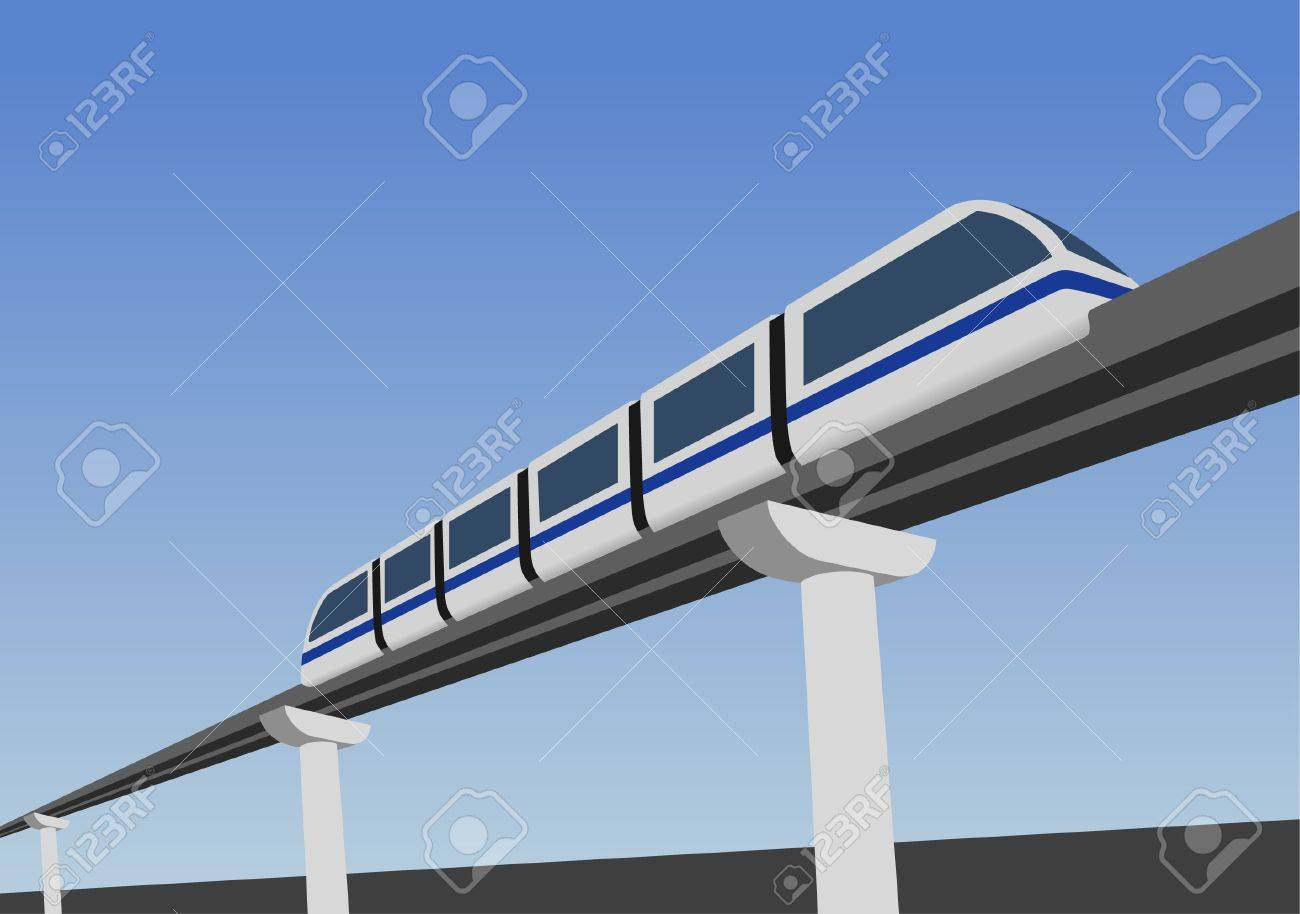 Monorail road above the earth. - 7744341