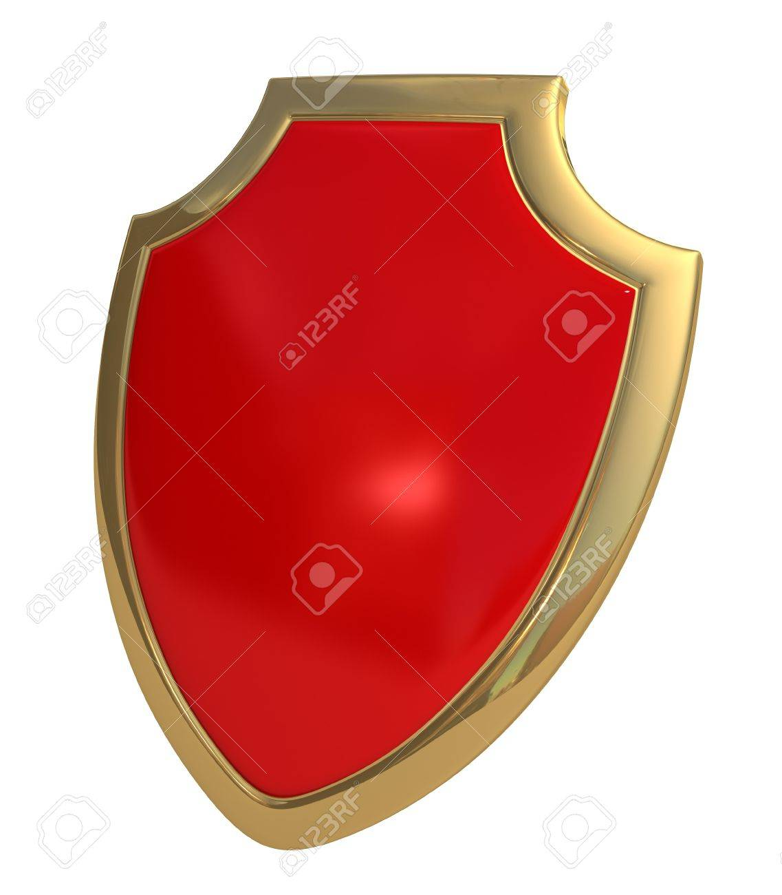 Three-dimensional model - a shield made of gold and enamel. - 7744357