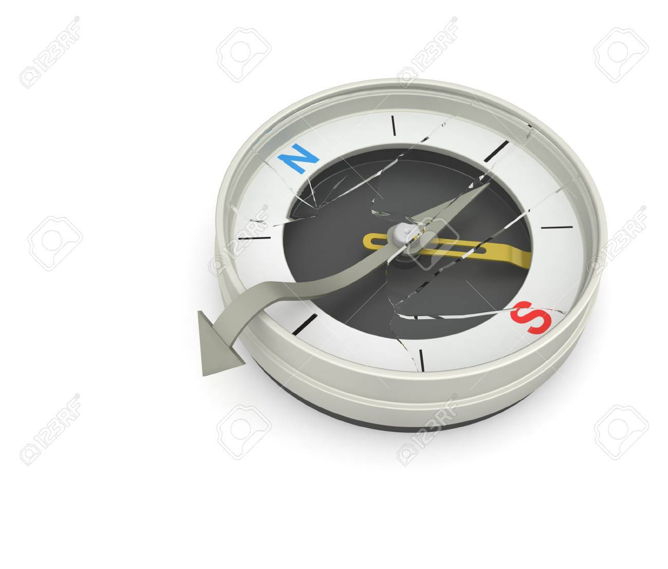 Compass needle broke the glass from the inside. Indicates that you have reached the right place. - 7788825