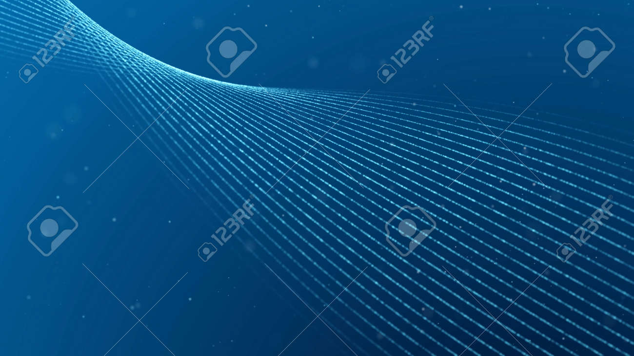 Abstract background. Parallel lines are twisted in three-dimensional space. - 160739702
