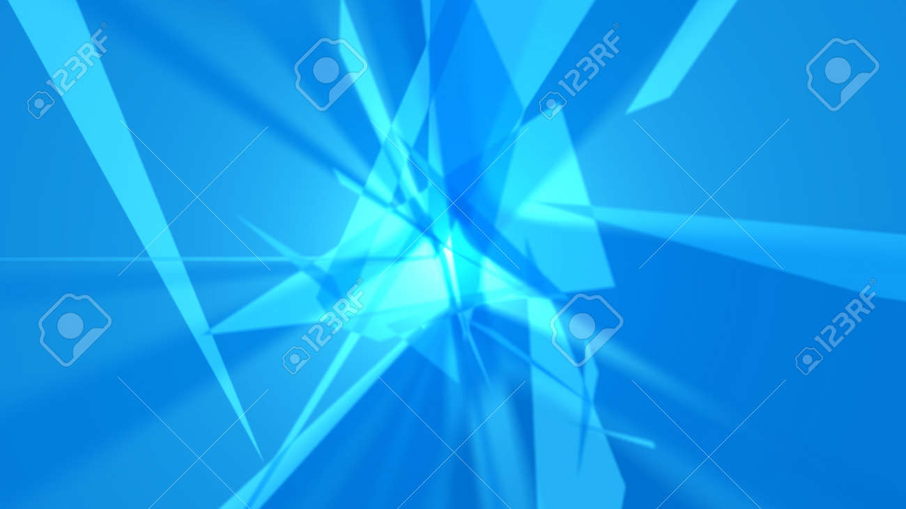 Abstract background. The planes chaotically located in space form a complex pattern. It looks like an explosion, crystal, etc. 4K resolution. - 162759793