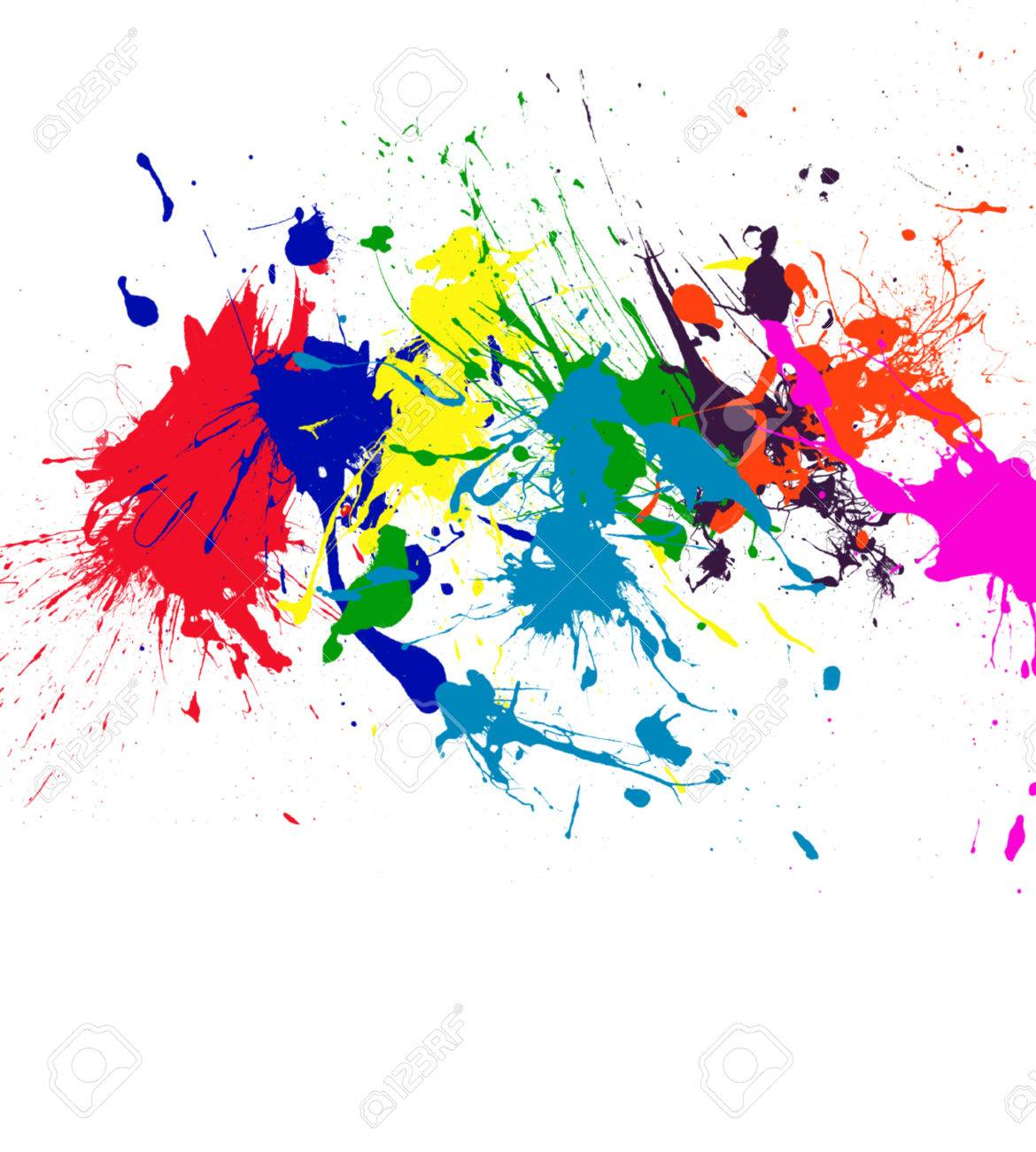 paint splatter rainbow color art stock photo picture and royalty