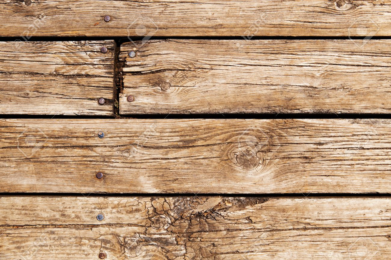 Closeup Of Wooden Planks Of Fence Boardwalk Texture Background