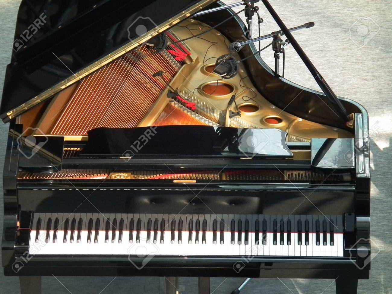 grand piano on a stage Stock Photo - 12199791