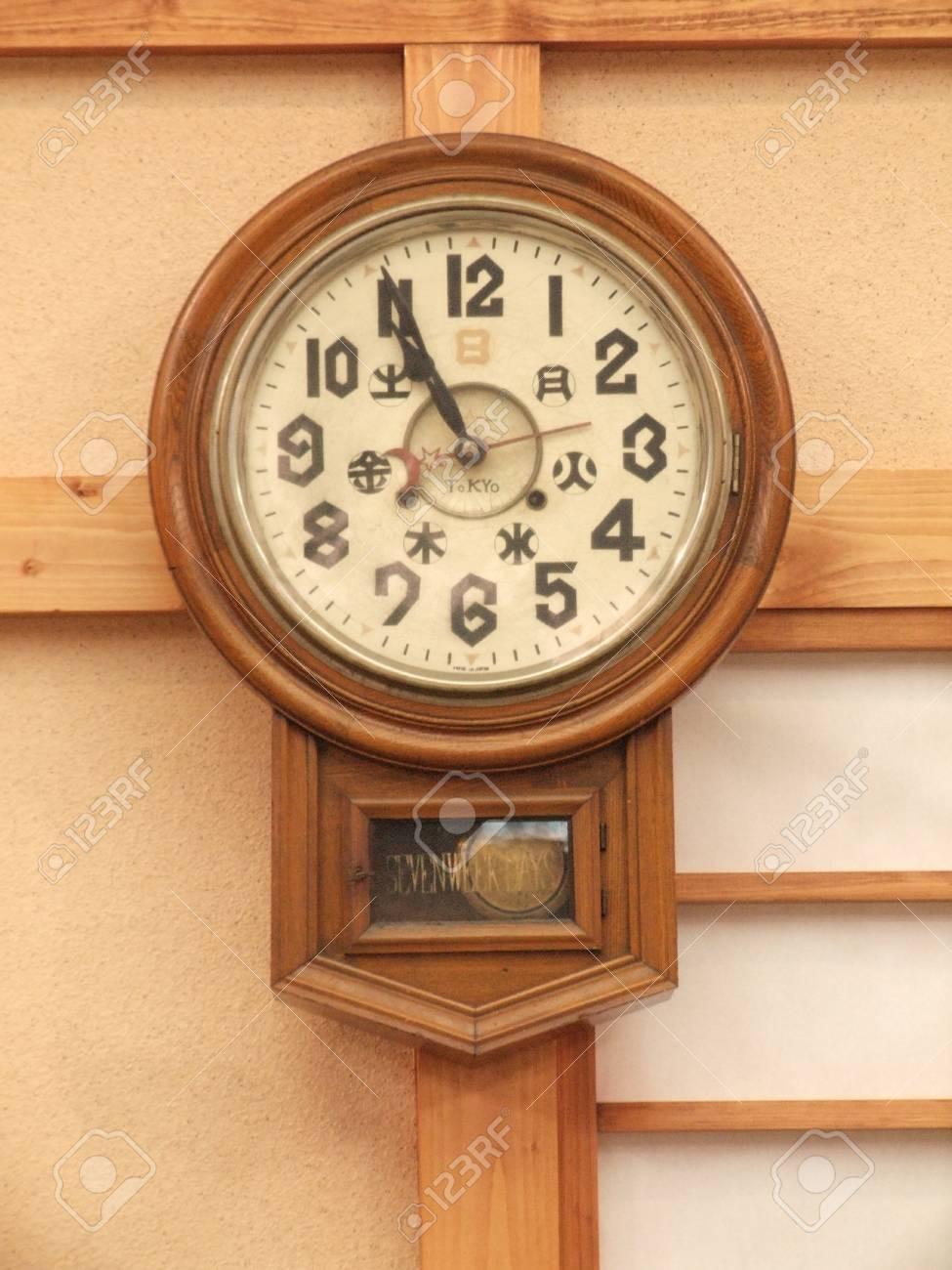 an old wall clock - 12199815
