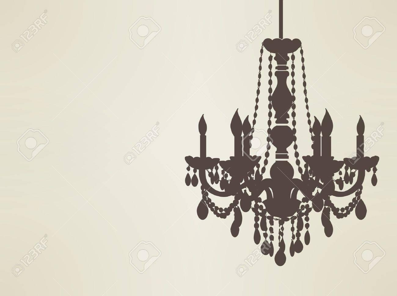 chandelier silhouette Stock Vector - 19977805
