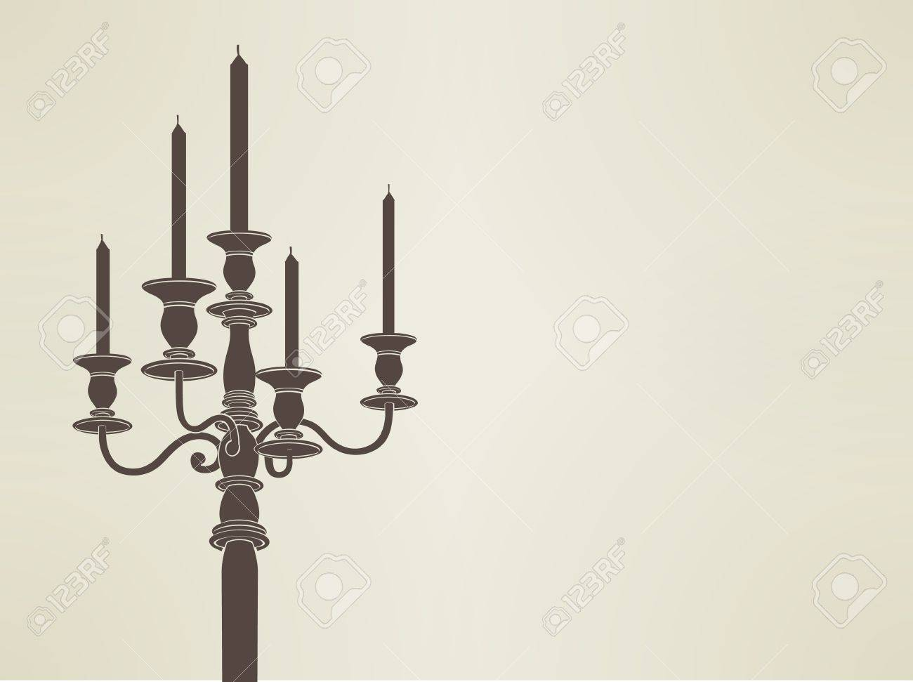 candelabra silhouette Stock Vector - 19977735