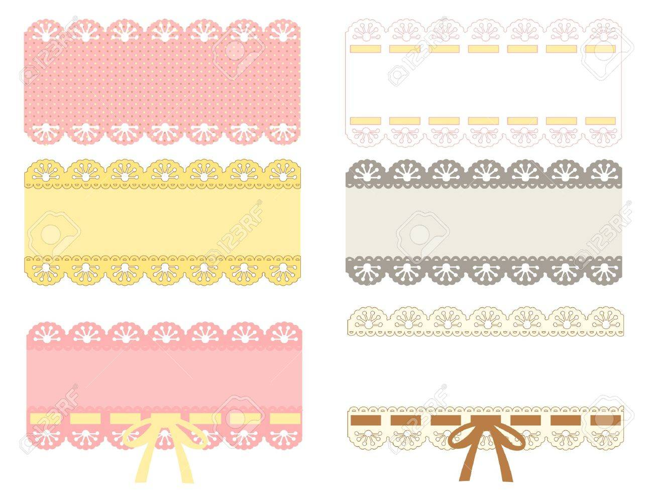 lace label Stock Vector - 19977614
