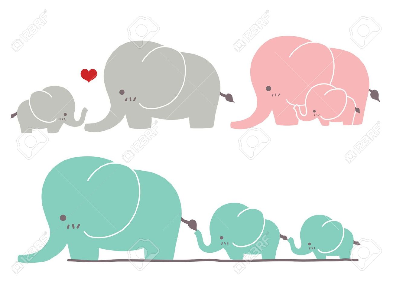 cute elephant royalty free cliparts vectors and stock
