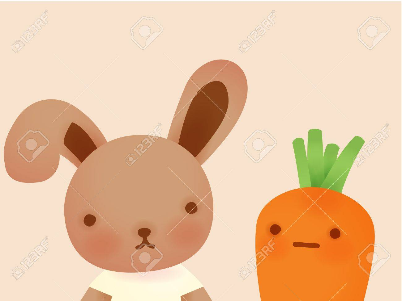 Cute Rabbit and Background Stock Vector - 19975832