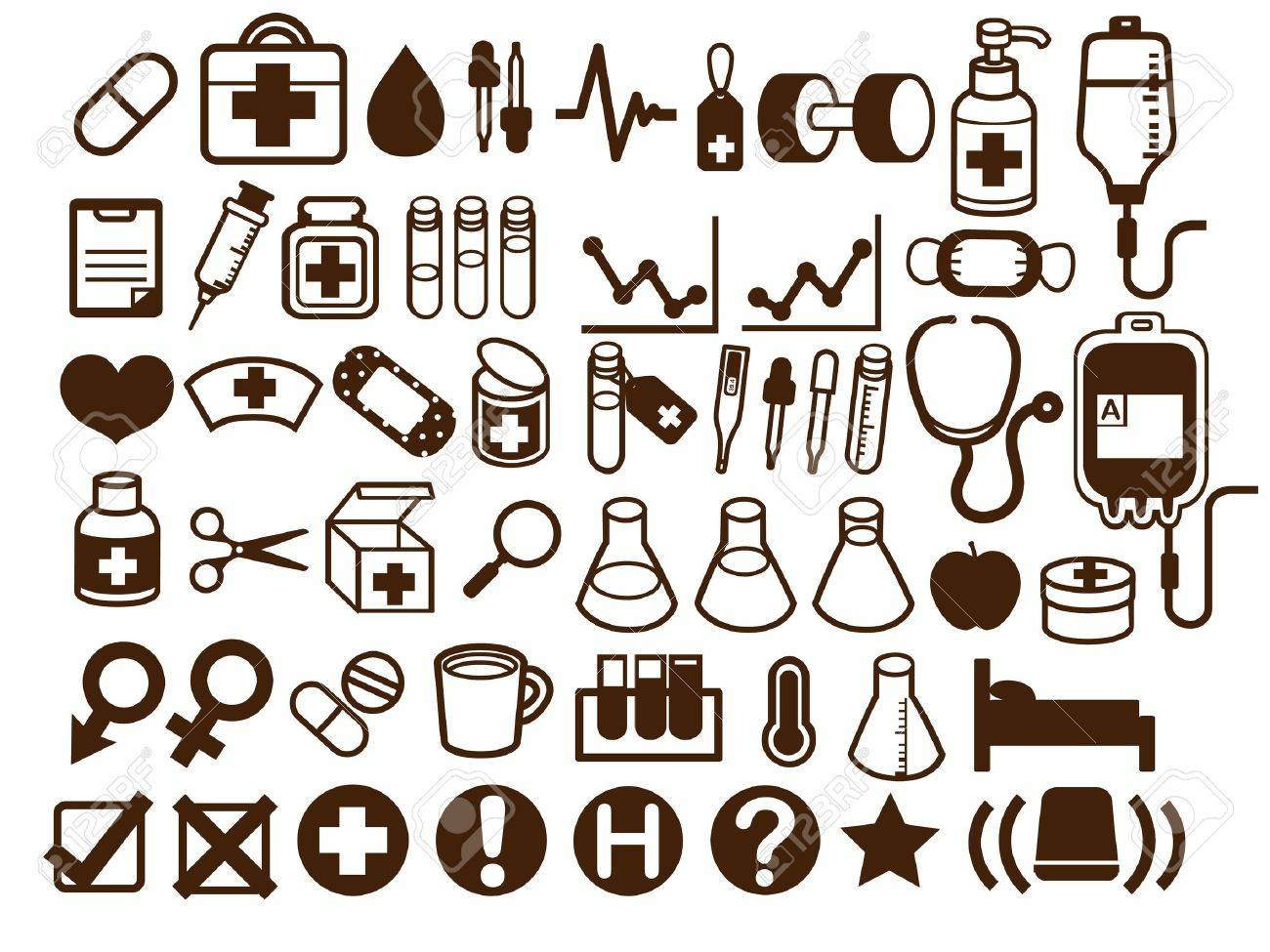 50  Medical and Healthcare Icon Stock Vector - 19976175