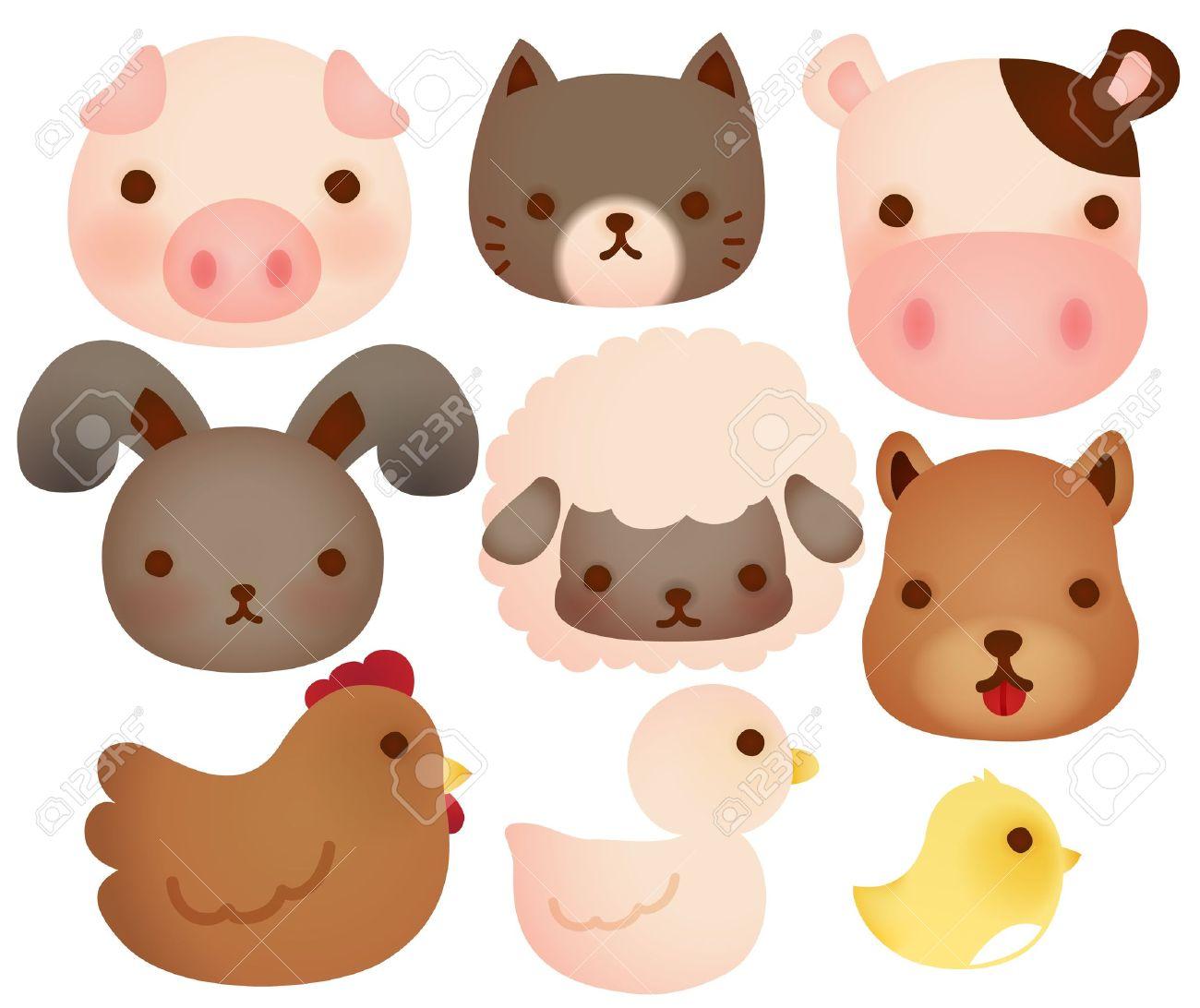 Baby Farm Animals Clip Art collection of cute farm animals royalty free cliparts, vectors