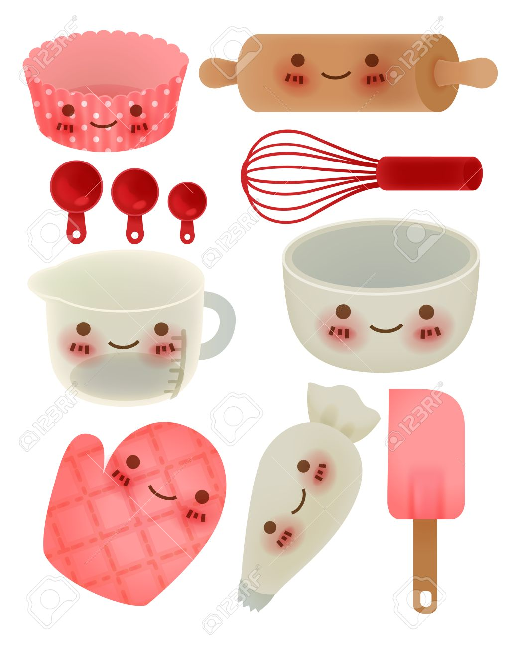 Cute Kitchen Cute Kitchen Utensil Royalty Free Cliparts Vectors And Stock