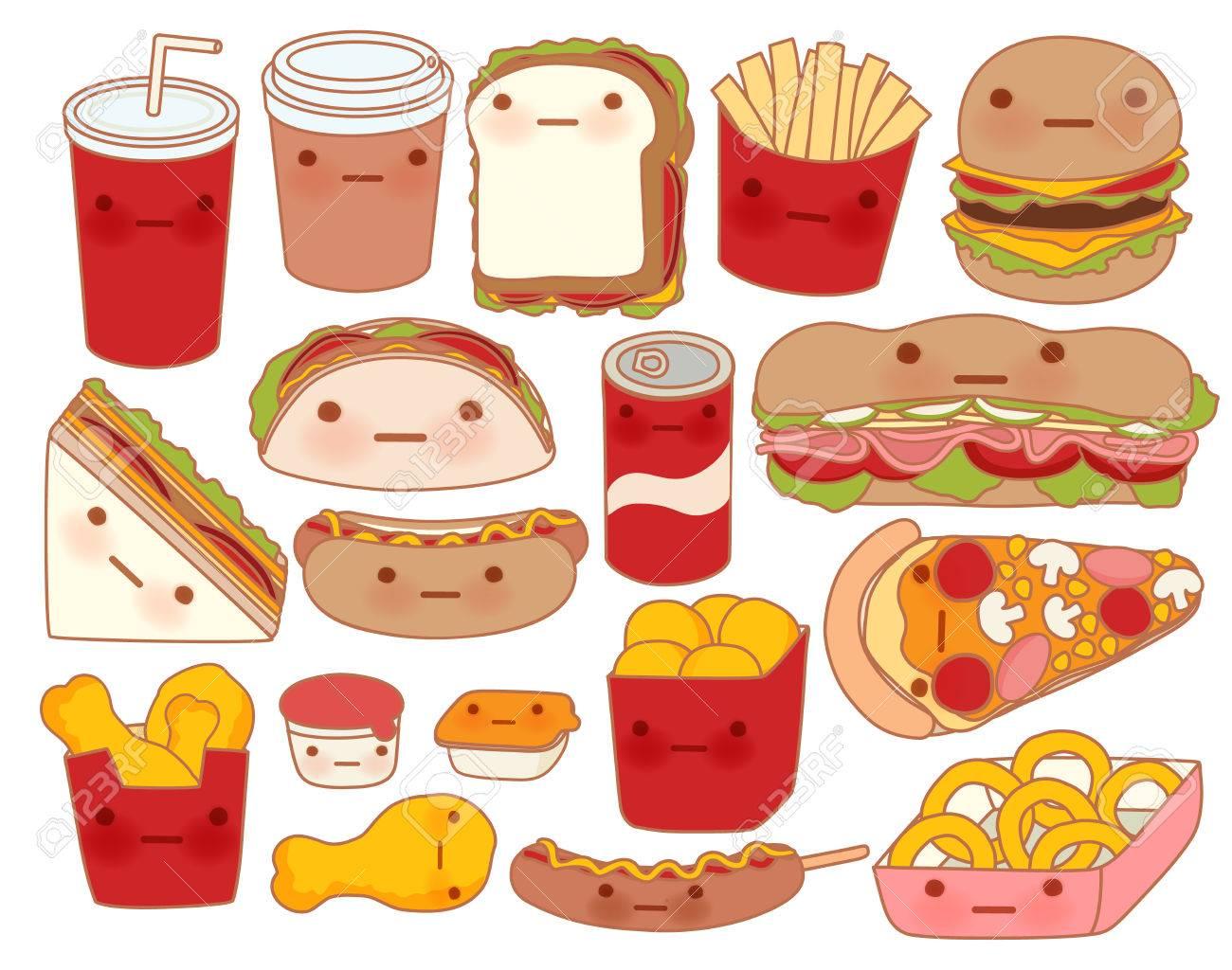 Colección De Icono De Alimentos Para Bebés Preciosa Garabato