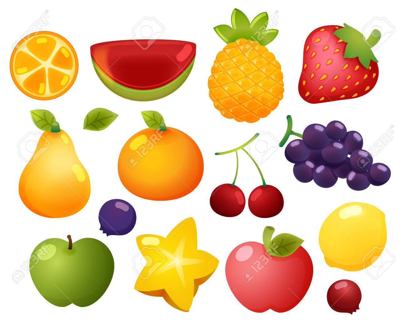 Coleccion De Conjunto De Iconos De Colores Brillantes Dibujos De