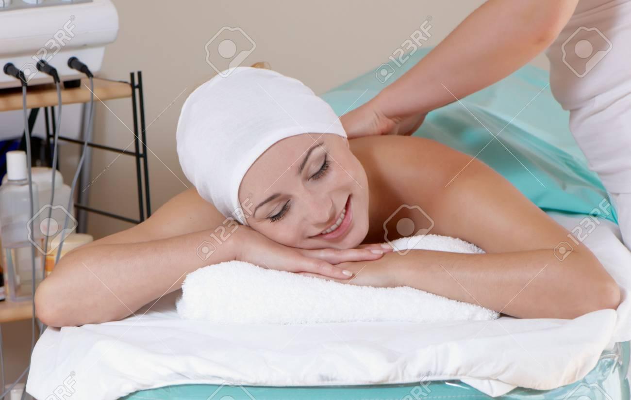 lovely lady in massage salon Stock Photo - 5482272