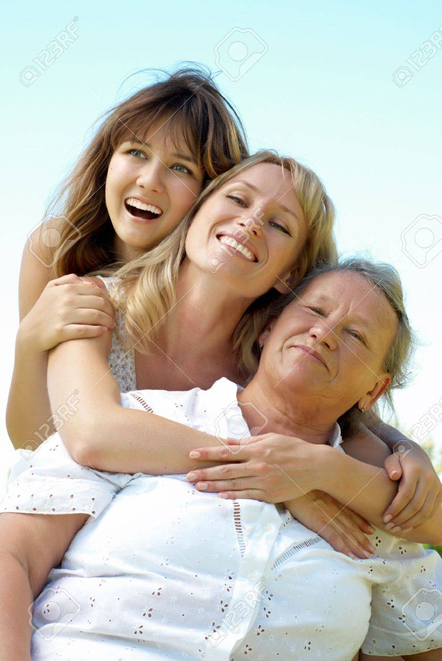 three generation family Stock Photo - 5482275