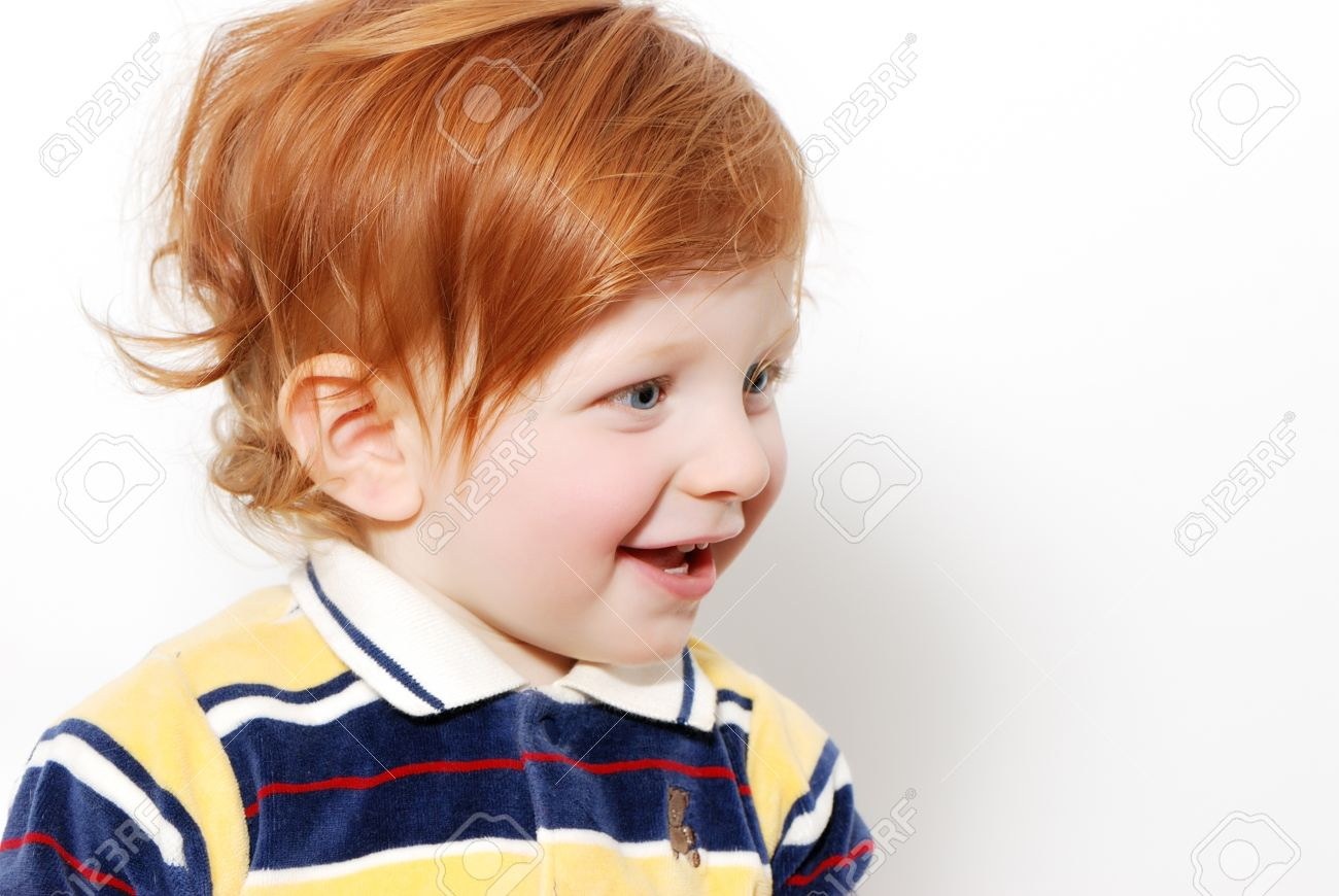 Little Boy With Red Hairemotions Stock Photo Picture And Royalty