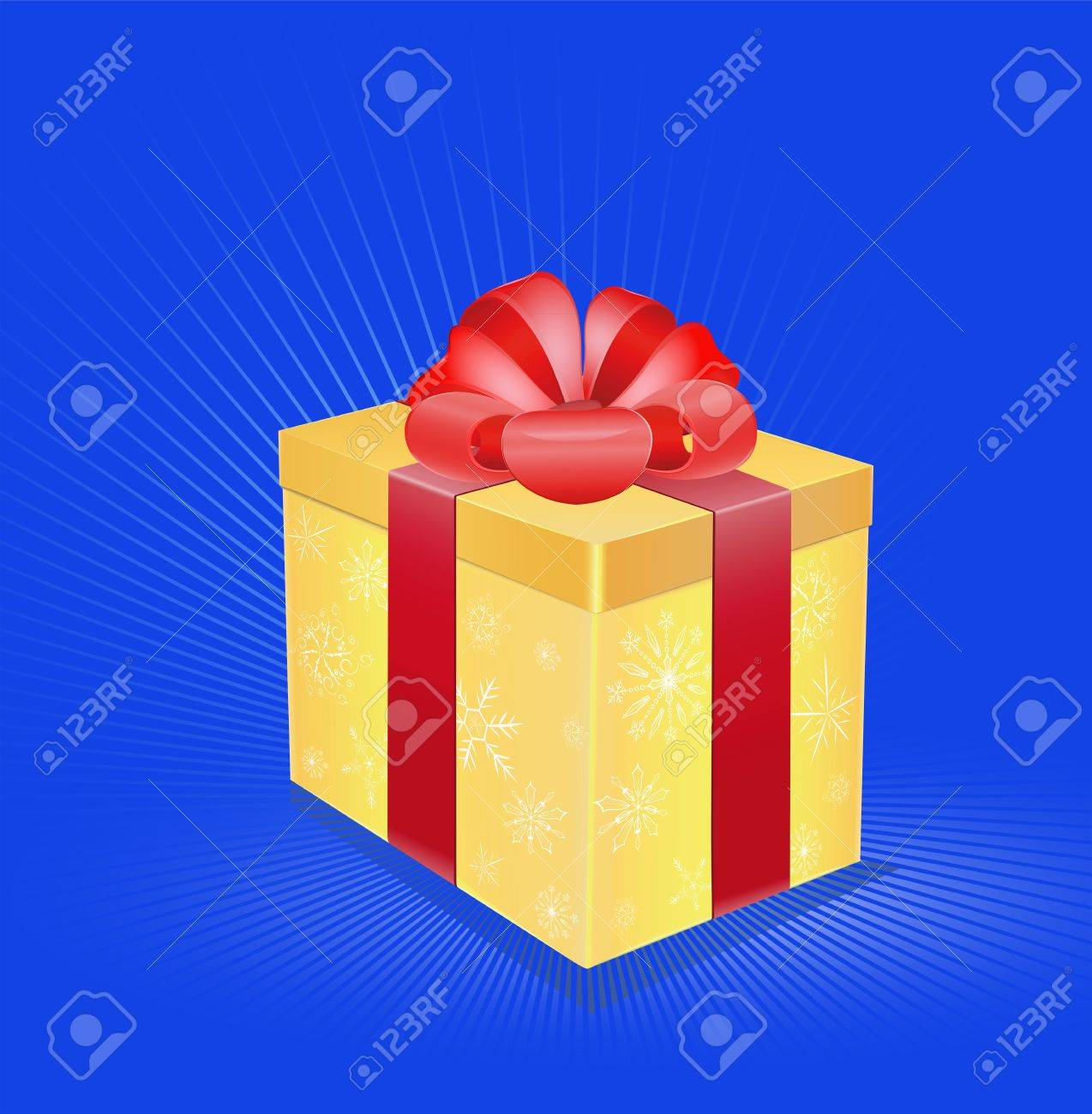 card the image a gift with a ribbon Stock Vector - 16418708