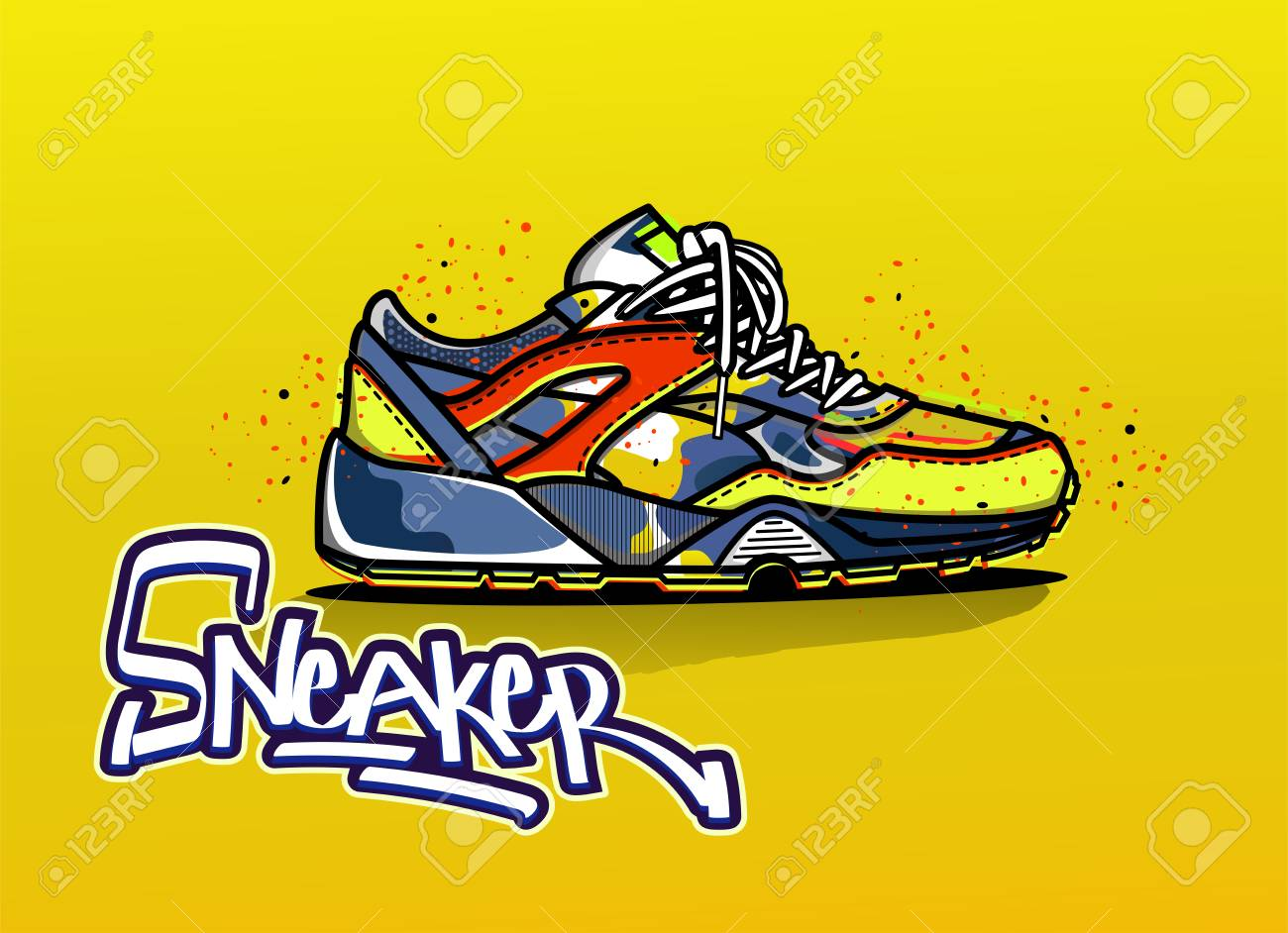 Sneaker In Color. Sport Shoes. Shoes