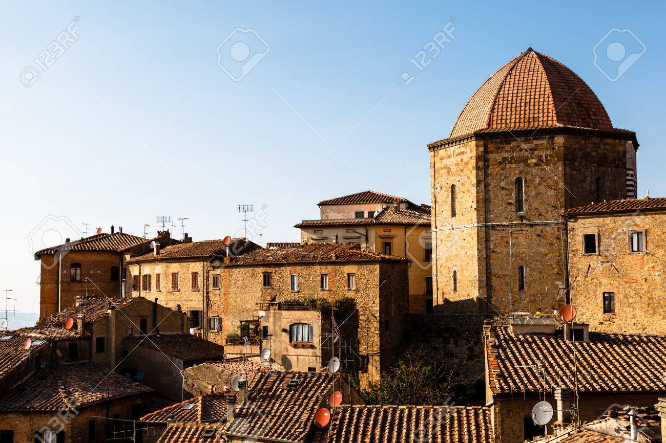 Dome and Houses in the Small Town of Volterra in Tuscany, Italy Stock Photo - 14068337