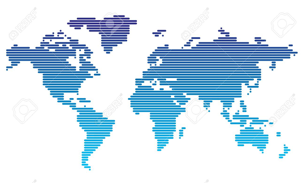 Dot World Map.Dotted World Map Royalty Free Cliparts Vectors And Stock