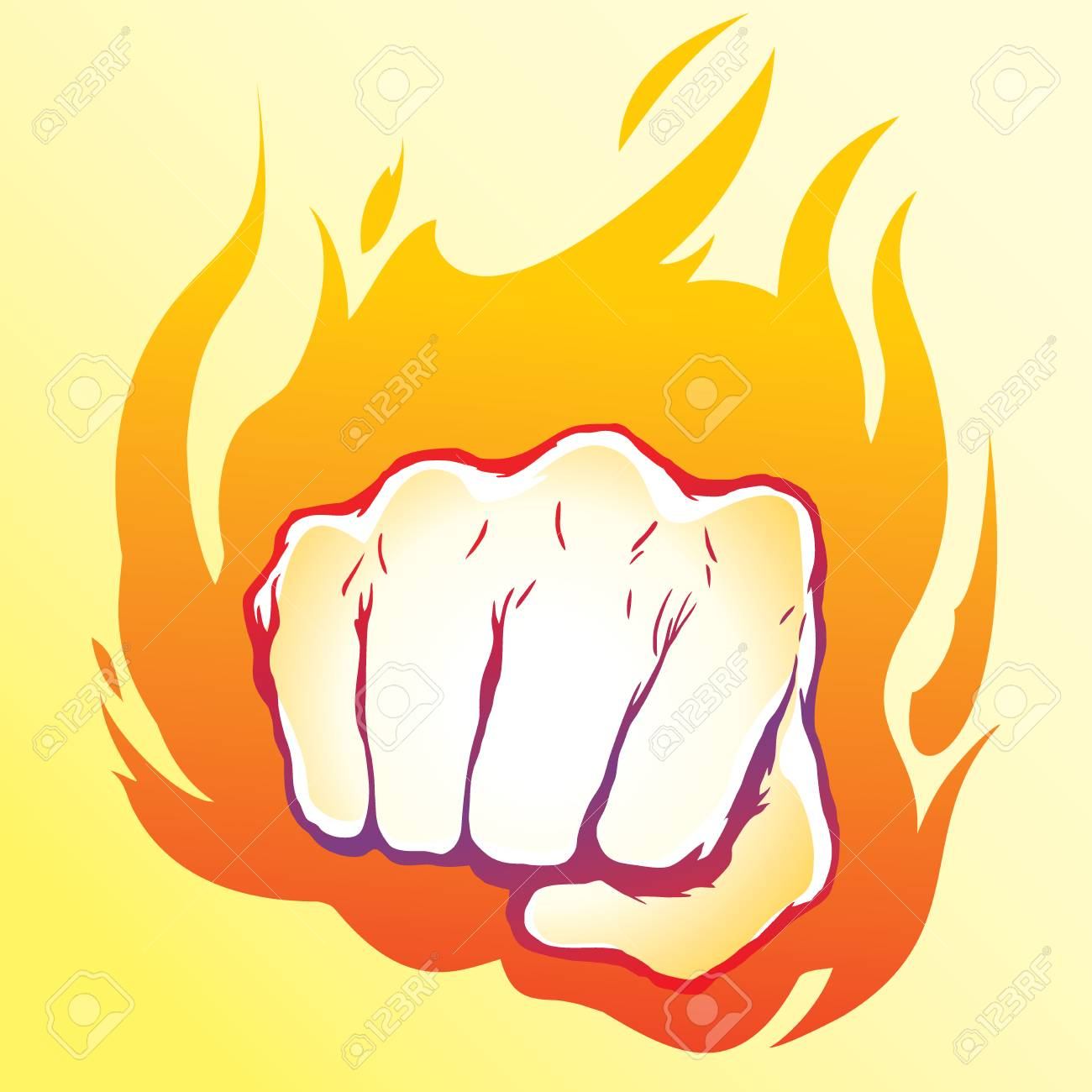 Punching Fist Hand Vector Royalty Free Cliparts Vectors And Stock Illustration Image 111437516