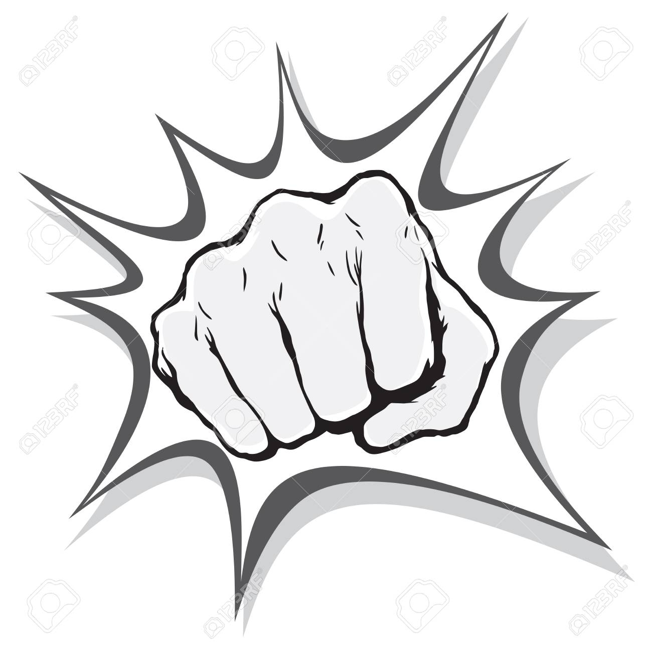 Punching Fist Hand Vector Royalty Free Cliparts Vectors And Stock Illustration Image 111437521