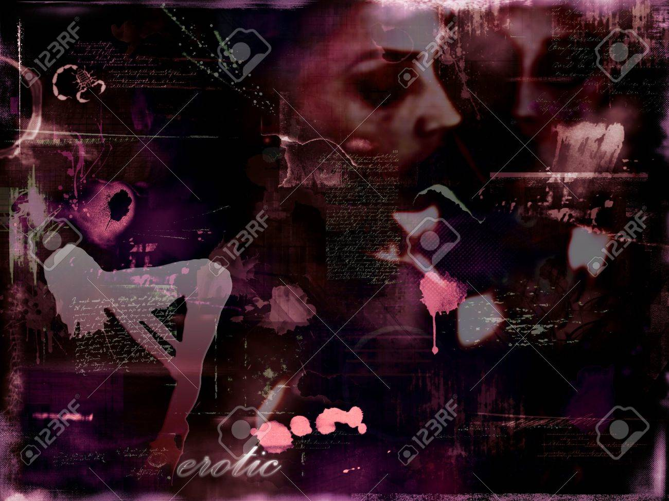 abstract photomontage background graphic Stock Photo - 712630