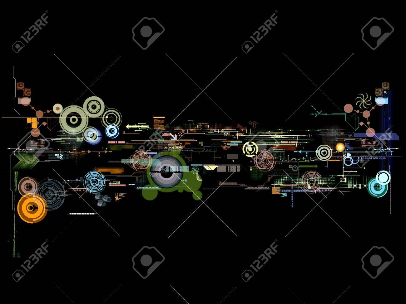 abstract graphic montage design wallpaper background poster Stock Photo - 727989
