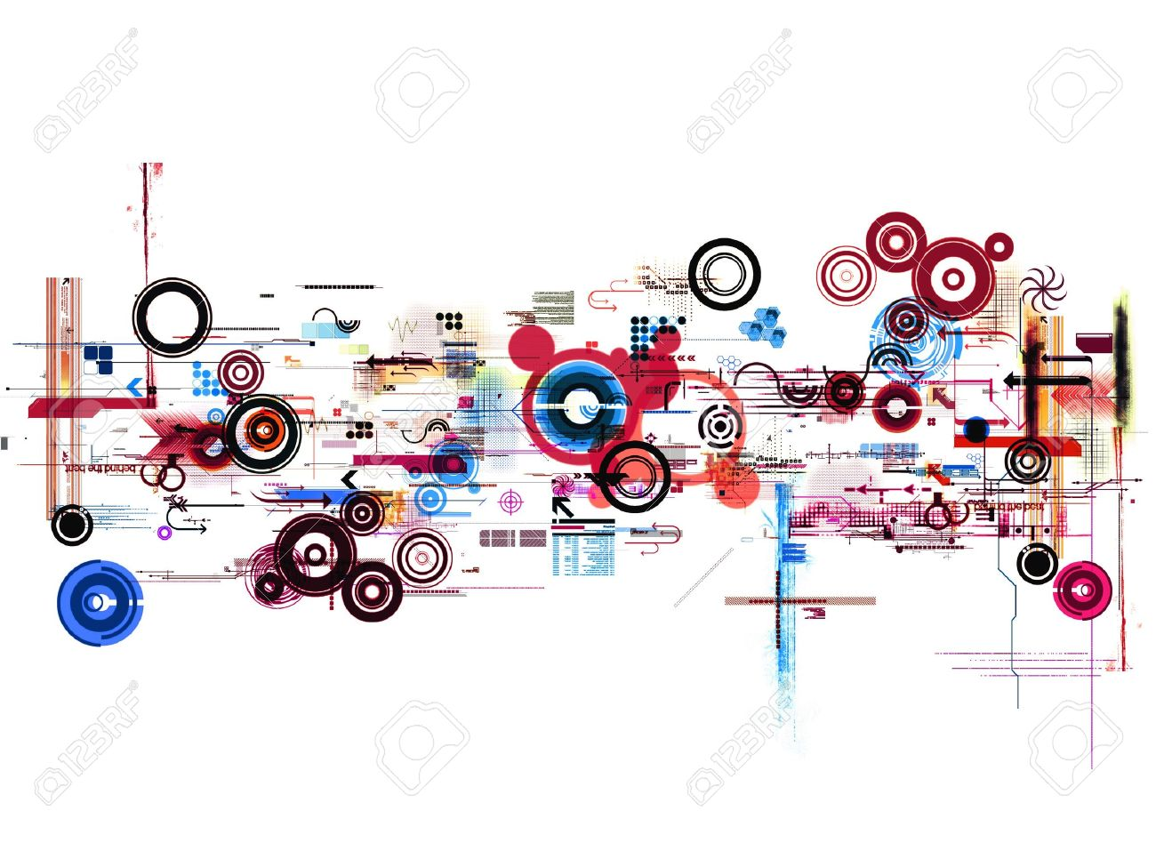 Abstract Graphic Montage Design Wallpaper Background Poster Stock Photo