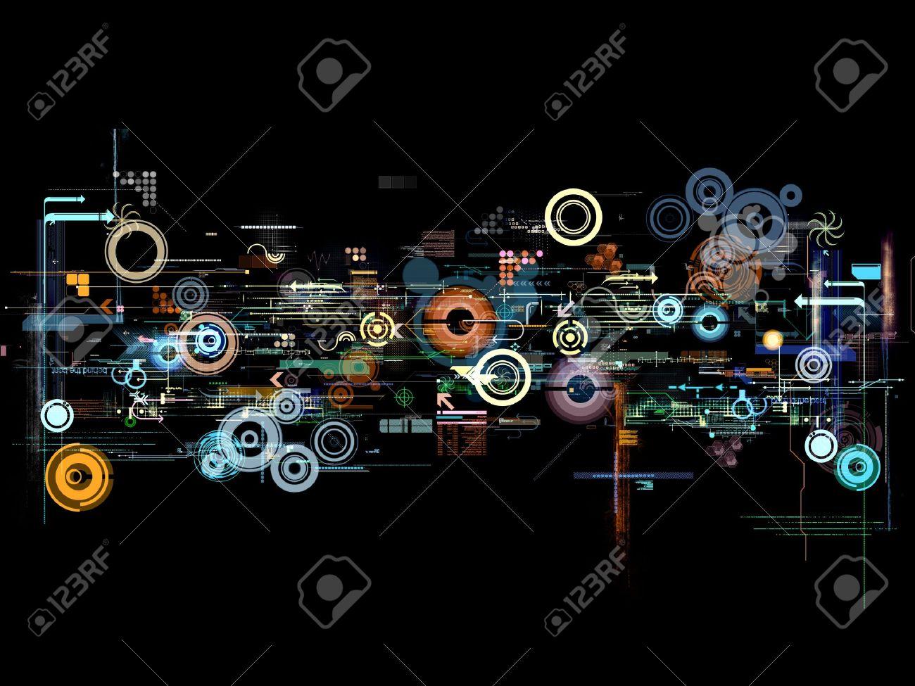抽象的なグラフィック モンタージュ デザインの壁紙の背景のポスター の写真素材 画像素材 Image