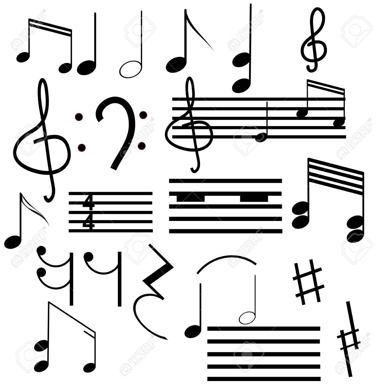 Collection of musical symbols royalty free cliparts vectors and collection of musical symbols stock vector 6993868 biocorpaavc Images