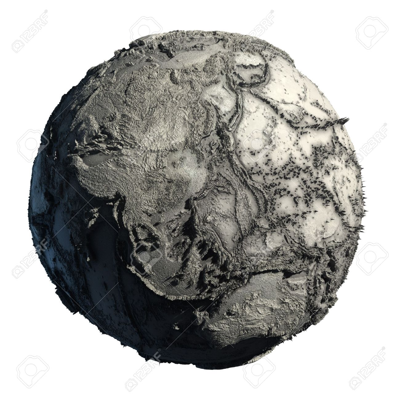 Dead Planet Earth without water - the global ecological catastrophe, a fantastic assumption of the future Stock Photo - 7977200