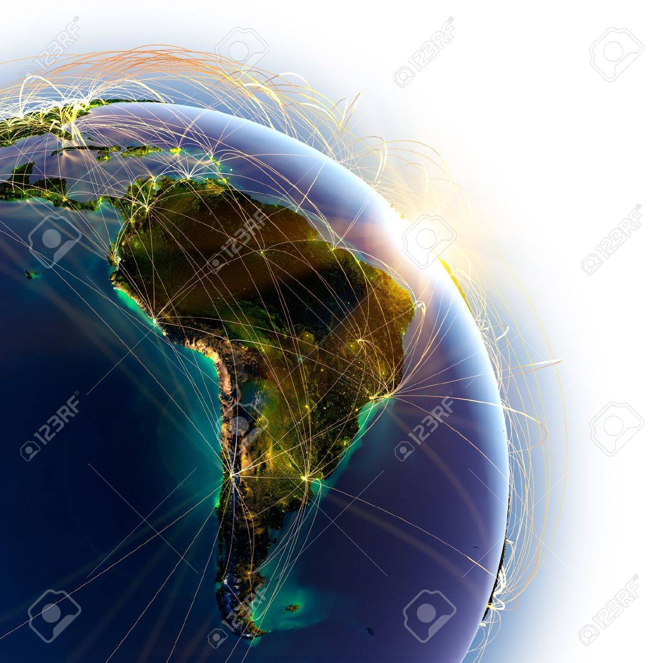 Highly detailed planet Earth on a white background Stock Photo - 15365401