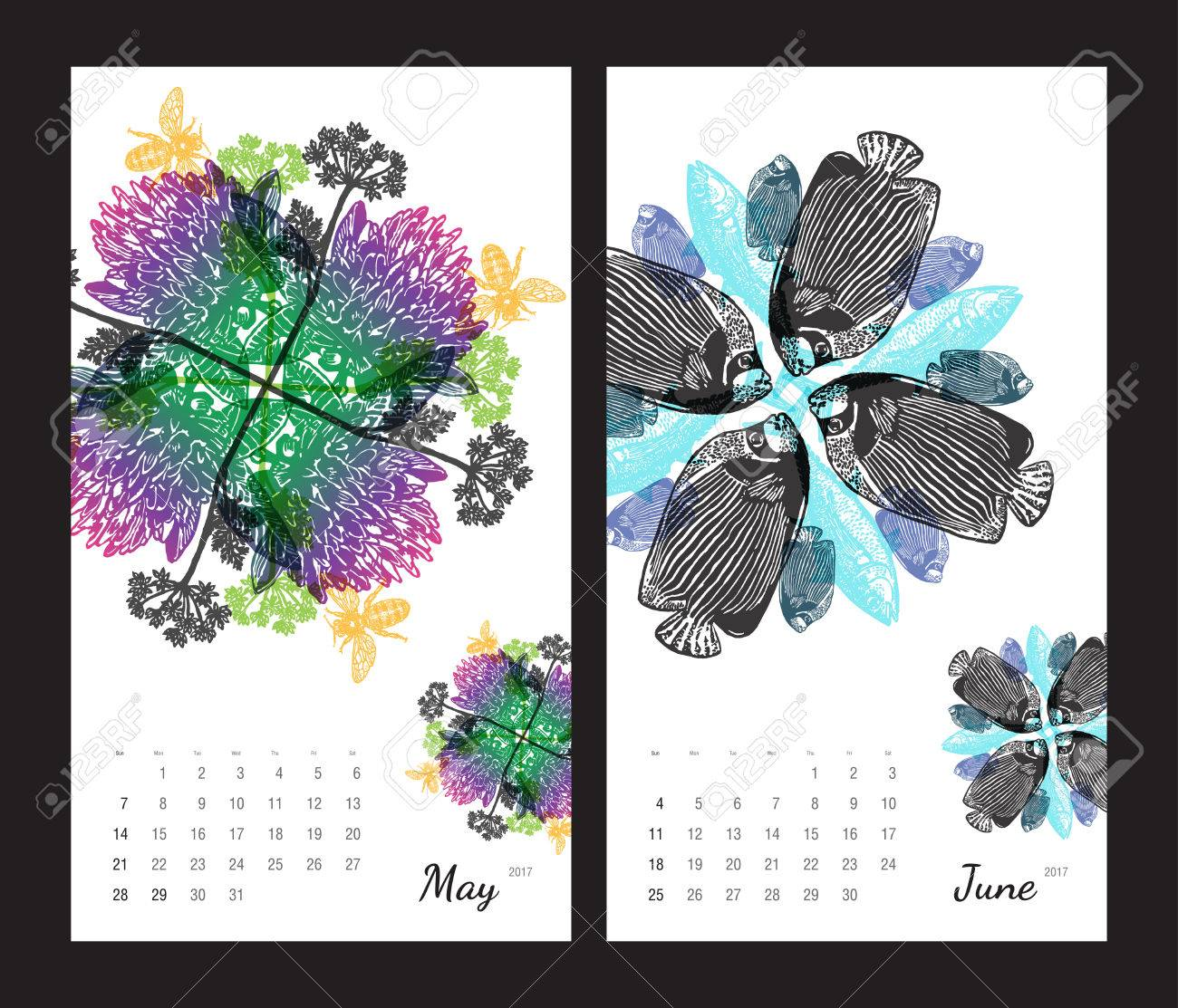 Pleasant Animal Printable Calendar 2017 With Flora And Fauna Fractals Download Free Architecture Designs Scobabritishbridgeorg