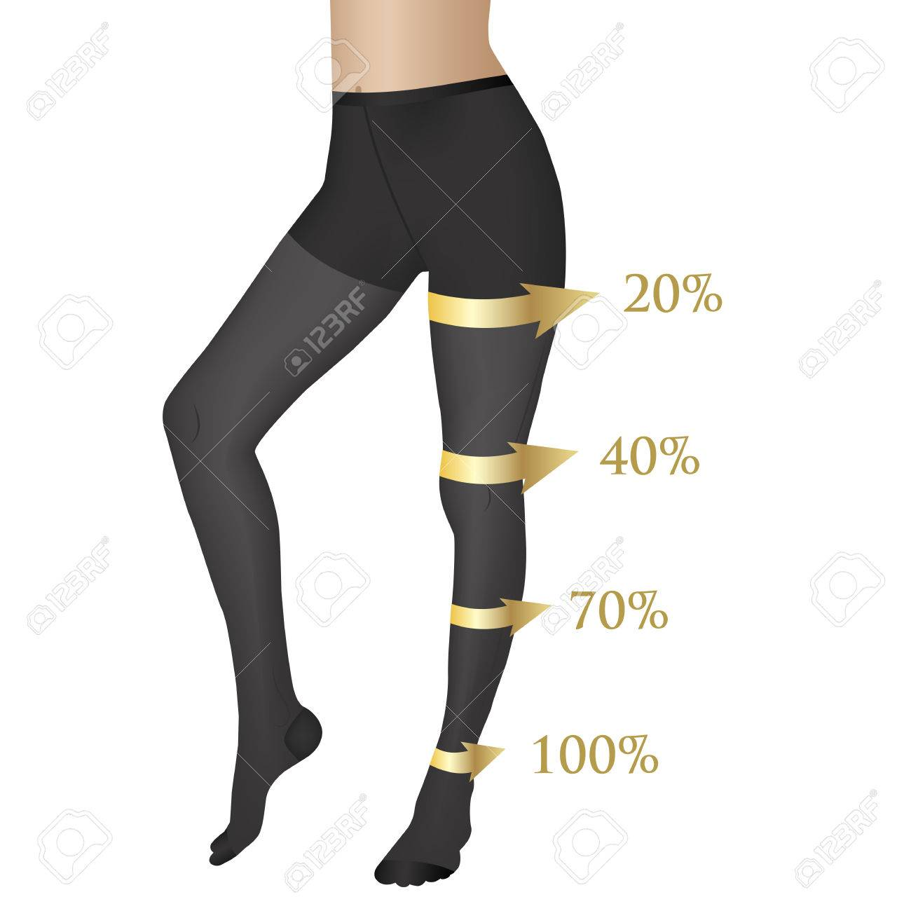 31d6df7f23 medical compression tights. Slender and beautiful female legs. Varicose  veins. Stock Vector -
