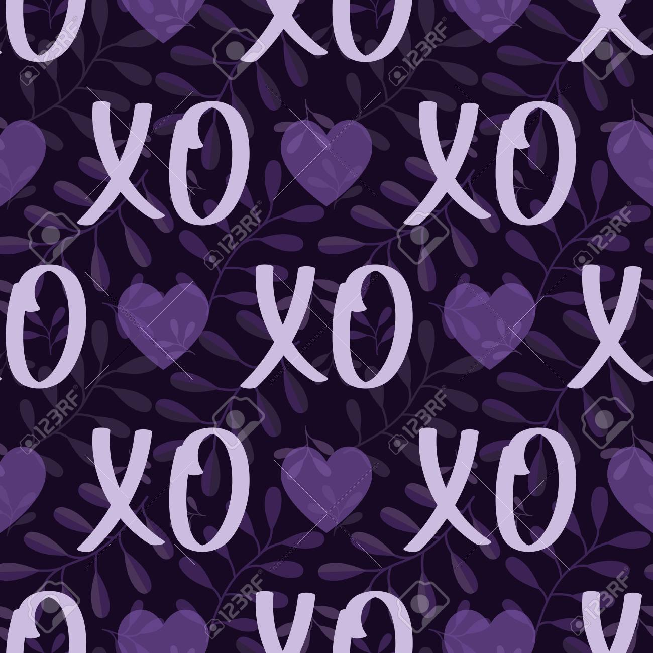 Patterns Hearts And Hugs And Kisses Xoxo Modern Valentines Day