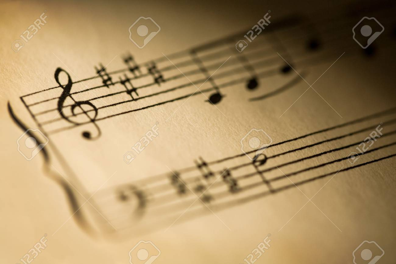Close-up of sheet music from a classical composition over 100 years old  Shallow depth of field and vignette Stock Photo - 17980527