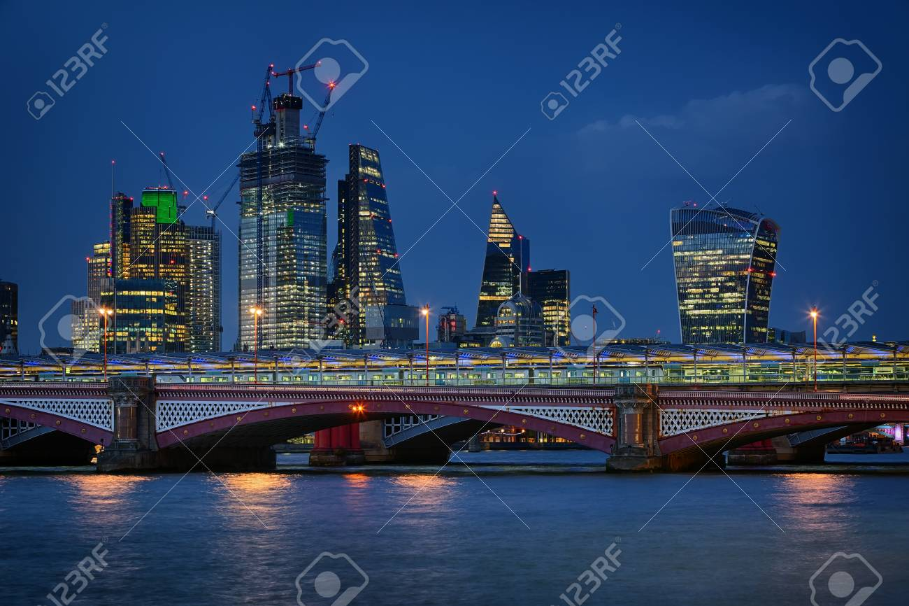 Blackfriars Bridge And The Modern Architecture Of The London Stock