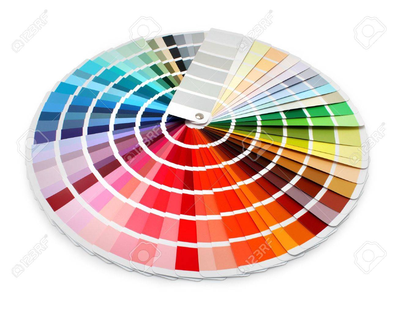 Multi Color Designer Swatch Palette Guide Chart Spectrum Stock Photo ...